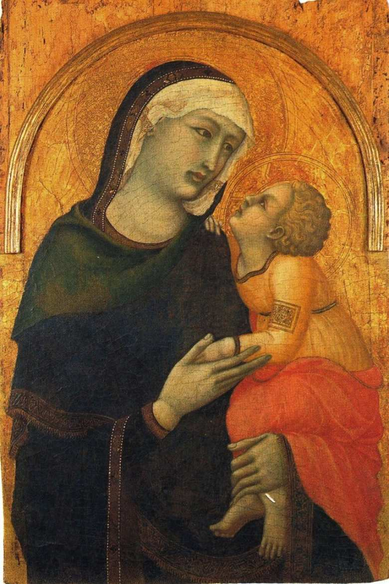 Madonna with Child by Pietro Lorenzetti