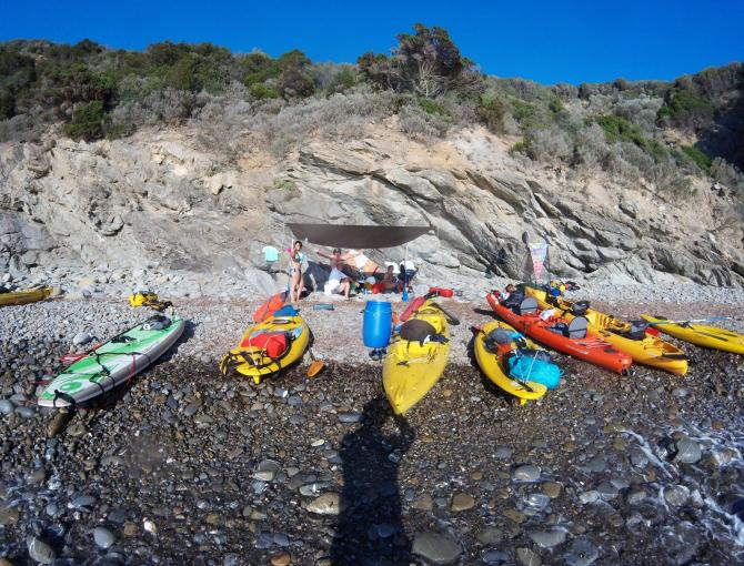 Kayak and SUP experience from Baratti to Buca delle Fate