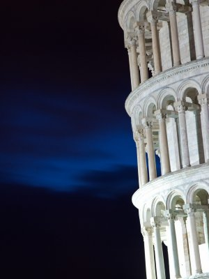 Pisa at night