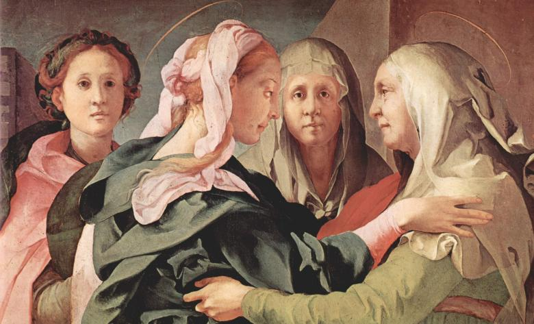 The Visitation (detail), by Pontormo