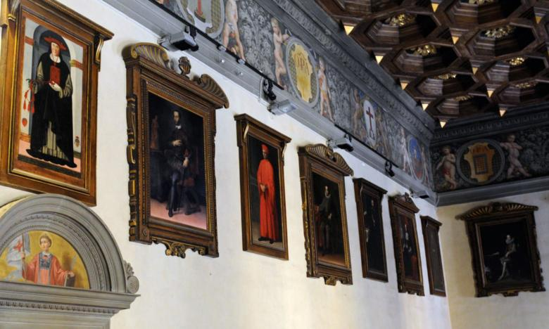 Painting gallery inside Palazzo Comunale