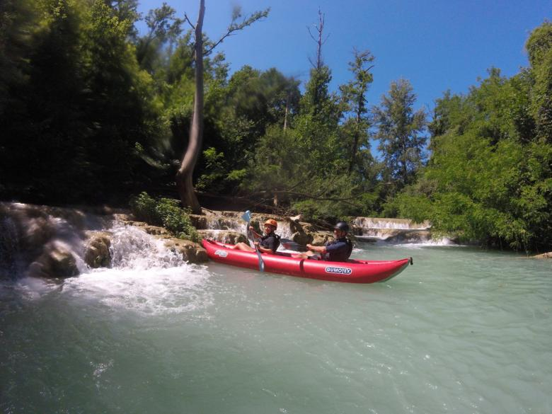 Rafting along the Elsa River