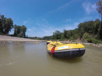 Rafting nel fiume Ombrone
