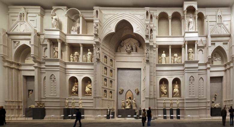 Hall of Paradise in the Opera del Duomo Museum in Florence