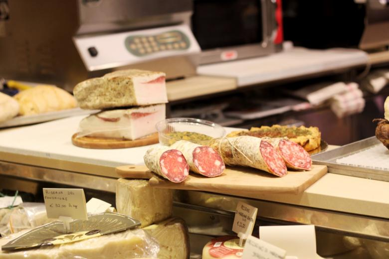 Salumi and cheeses at Bonuccelli (Camaiore)