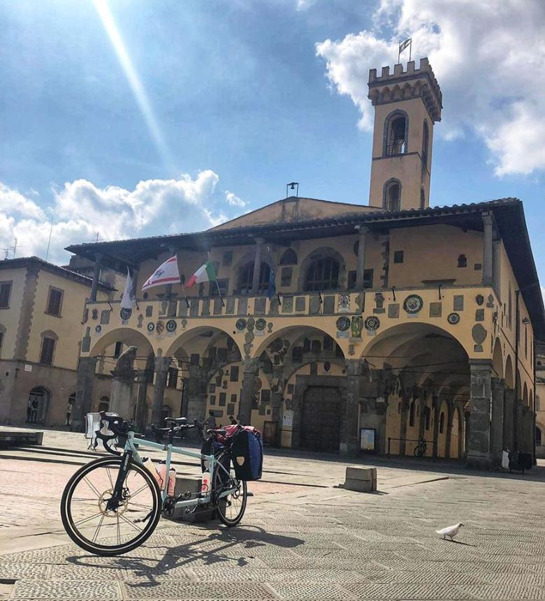 San Giovanni Valdarno by bicycle