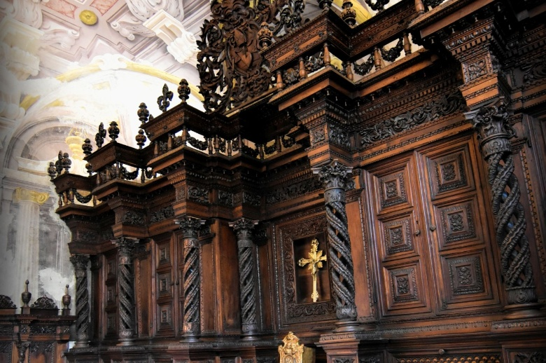 The wooden sacristy at S.S. Annunziata Church