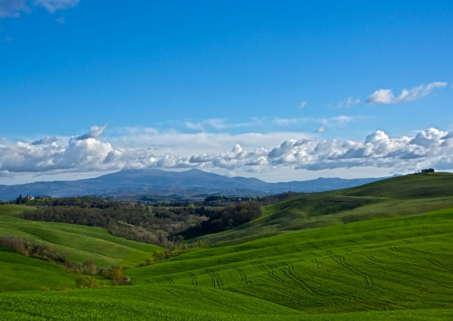 Monte Amiata from the Crete Senesi