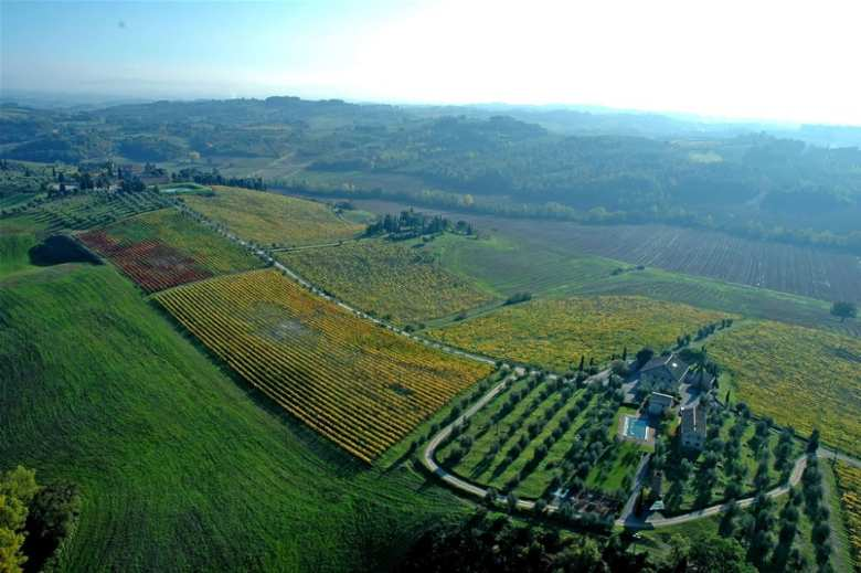 Flying over Chianti