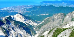 The Lunigiana mountains,