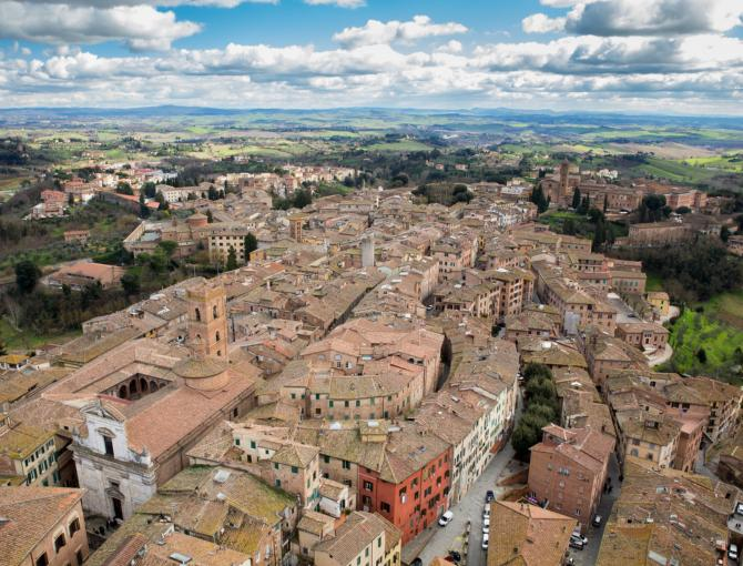 Siena & surrounding hills from the top of Torre del Mangia