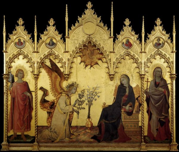 The Annunciation, Simone Martini