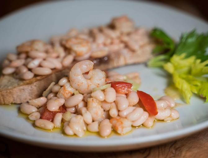 Sorana beans with shrimps