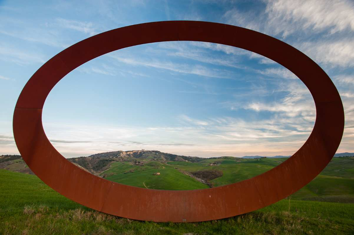 Work by Mauro Staccioli in Volterra