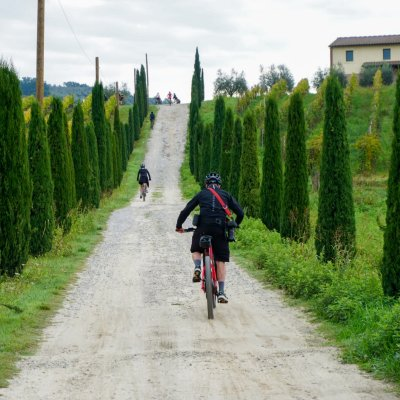 Cycling in the surroundings of Vinci