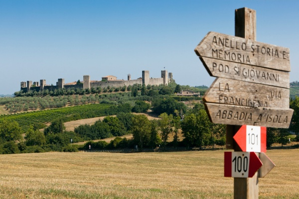 Via Francigena Toscana - top
