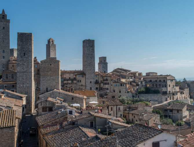 Torre Campatelli and the other towers of San Gimignano