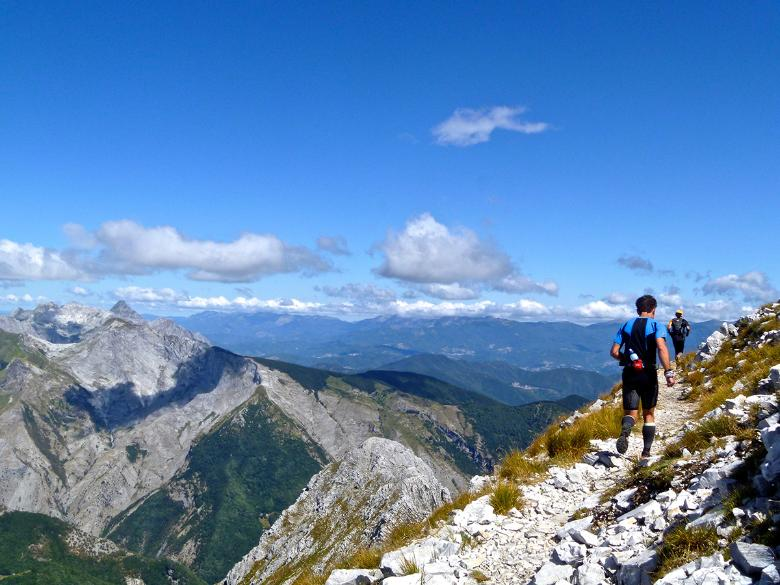 Trail running on the Apuan Alps