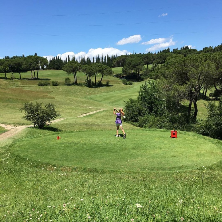A glimpse of the Ugolino's golf course, Chianti area