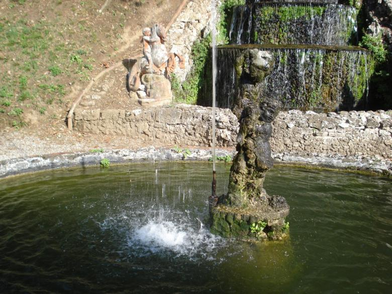 One of the fountains at Villa Oliva in San Pancrazio