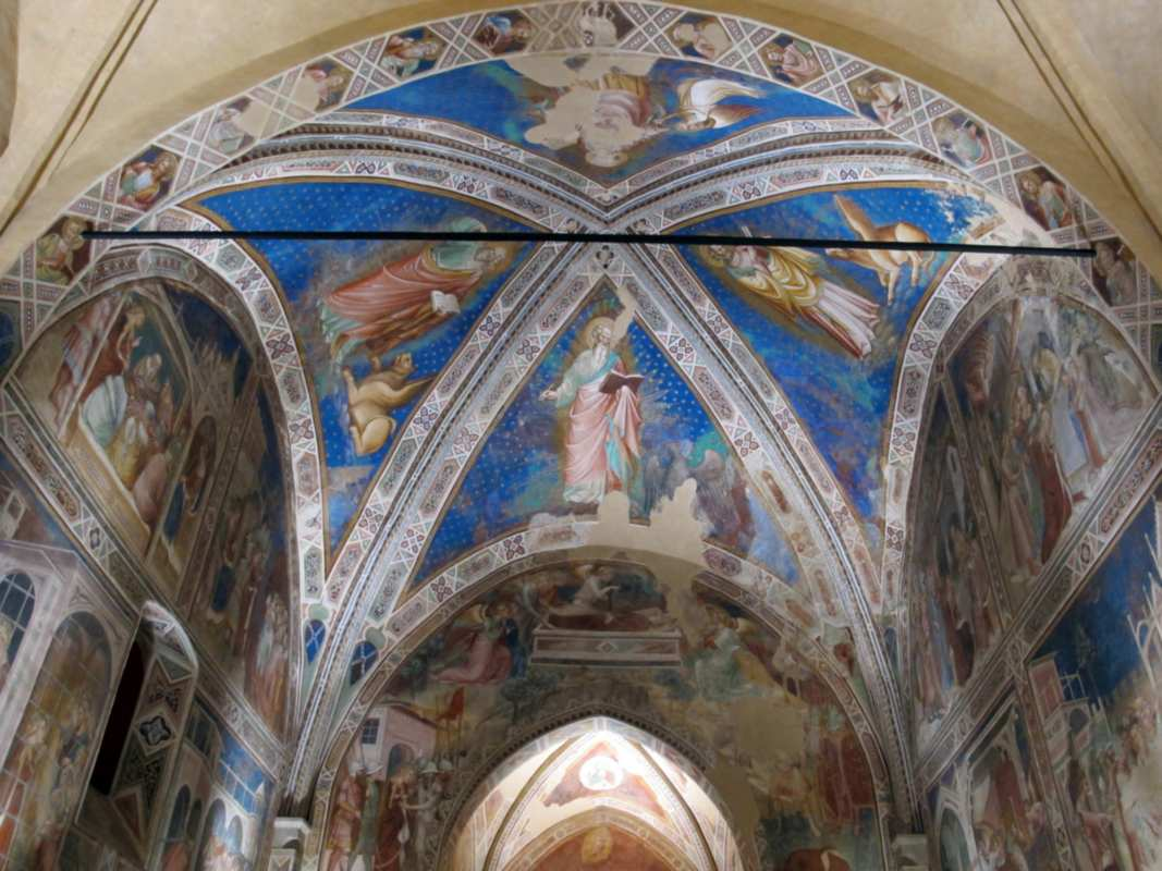 A glimpse of the interior of the Santa Caterina delle Ruote Oratory